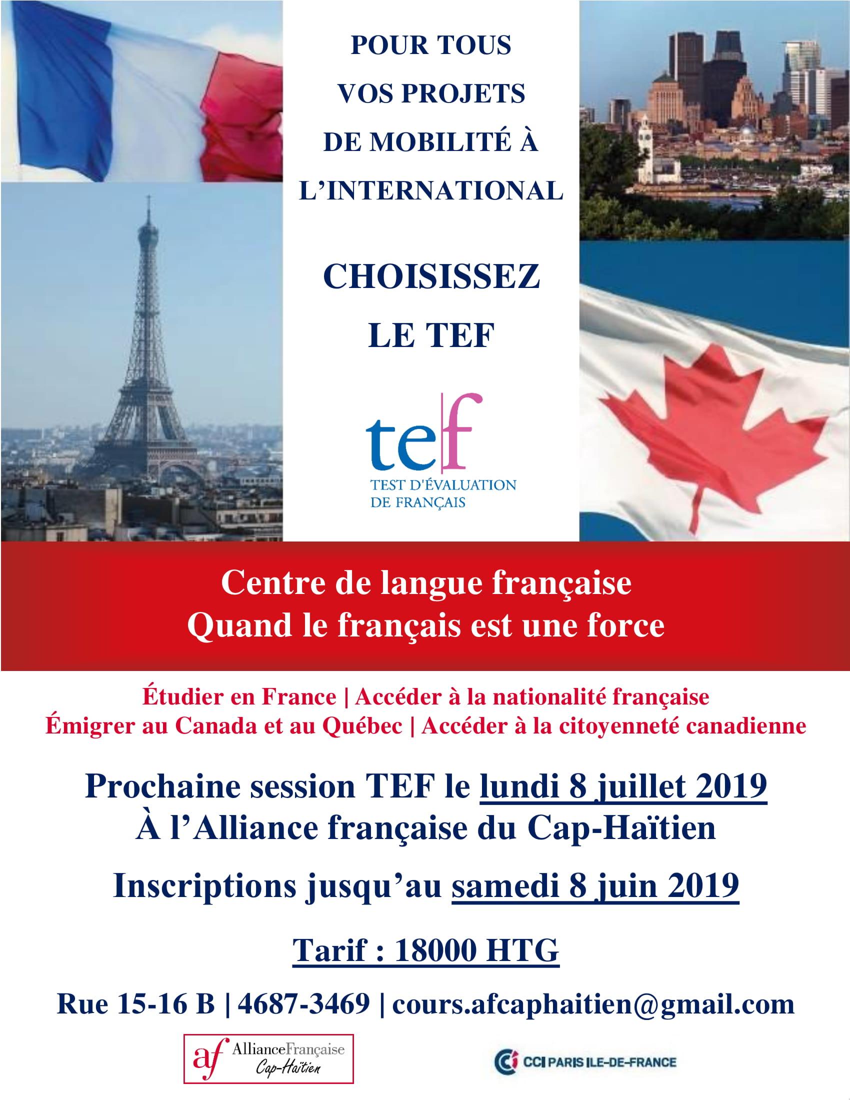 TEF | Alliance Française du Cap-Haïtien
